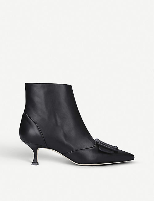 MANOLO BLAHNIK: Baylow leather ankle boots