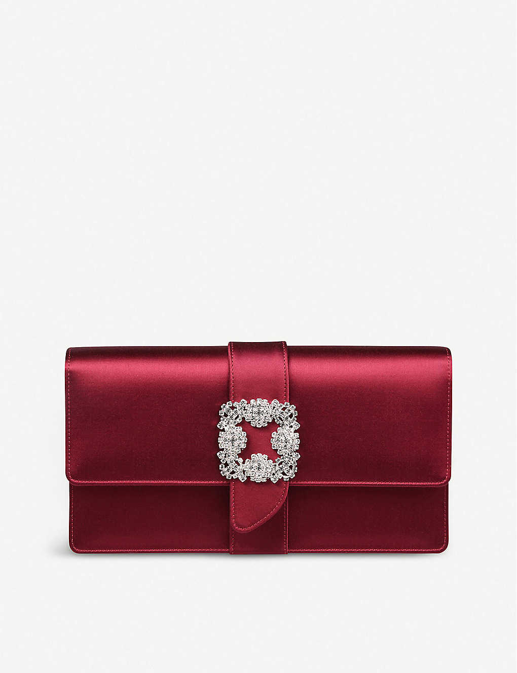 MANOLO BLAHNIK: Capri satin clutch bag