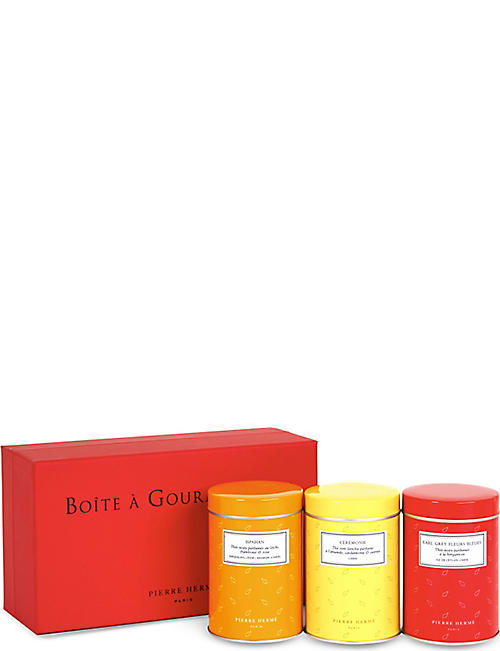 PIERRE HERME Set of three Boîte à Gourmandises teas