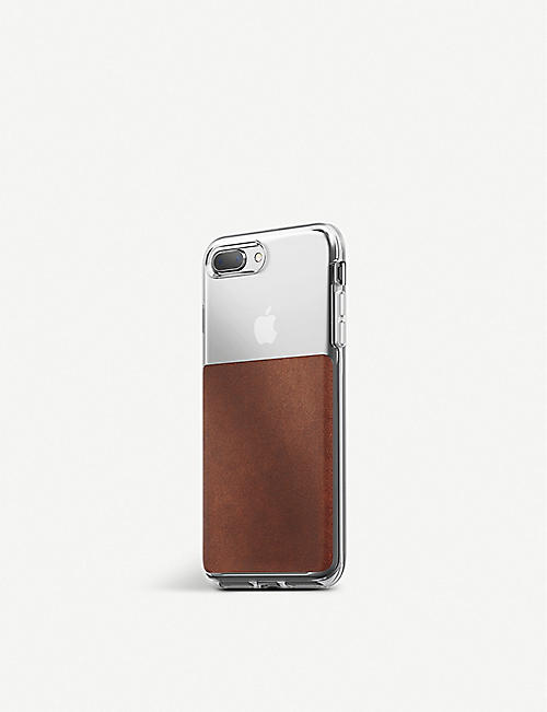 SMARTECH Nomad Cases clear and leather iPhone 8/7 Plus case