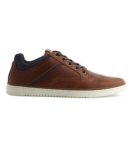 5ee5309639e ALDO Tracasi leather lace-up trainers (Cognac