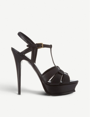 SAINT LAURENT Classic tribute sandals in black leather
