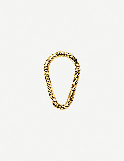 CHAOS Rope gold-plated carabiner