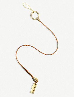 CHAOS Zip It gold-plated phone lanyard