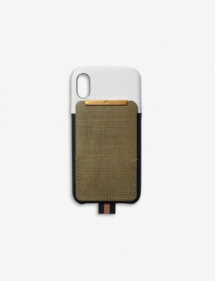 CHAOS Card holder canvas and leather iPhone XS Max case