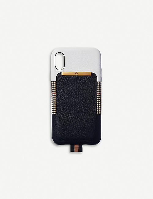 CHAOS Card Holder leather iPhone XS Max case