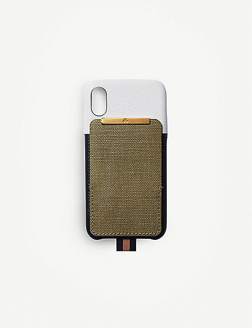 CHAOS Card holder canvas and leather iPhone XS case