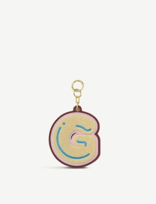 CHAOS Initial G chenille luggage tag