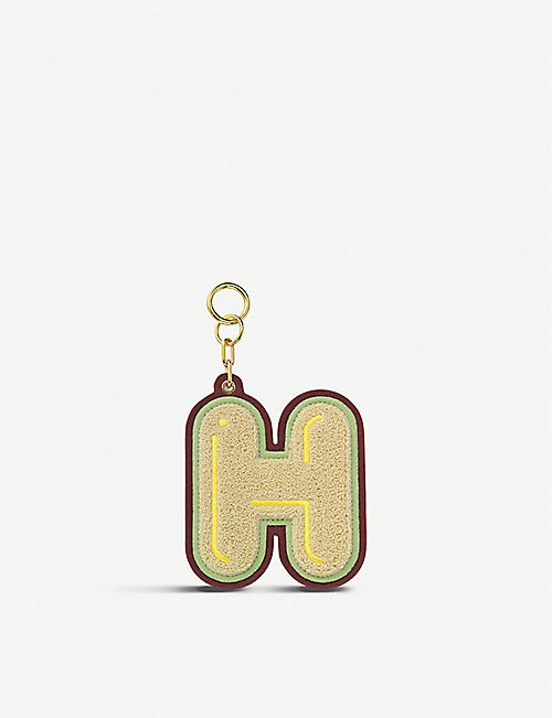 CHAOS Initial H chenille luggage tag