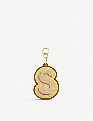 CHAOS Initial S chenille luggage tag