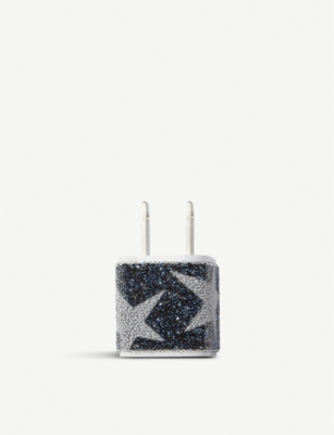 CHAOS Crystal-studded US phone charger plug sticker
