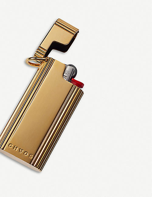CHAOS Gold-plated lighter holder
