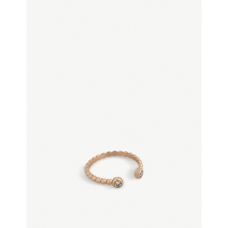 THE ALKEMISTRY   Kismet By Milka 14ct Rose-Gold And Diamond Double-End Ring   Goxip