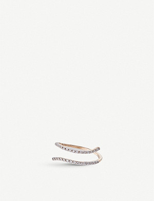 THE ALKEMISTRY Kismet by Milka 14ct rose-gold and diamond double-bar ring