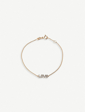 THE ALKEMISTRY Kismet by Milka 14ct rose-gold and diamond Love bracelet