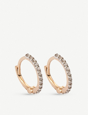THE ALKEMISTRY The Alkemistry x Kismet by Milka 14ct rose-gold and diamond hoop earrings