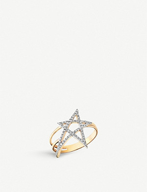 THE ALKEMISTRY Kismet by Milka 14ct rose-gold and diamond star ring