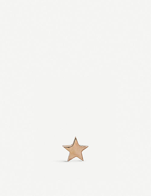 THE ALKEMISTRY Kismet by Milka 14ct rose-gold mini star earrings
