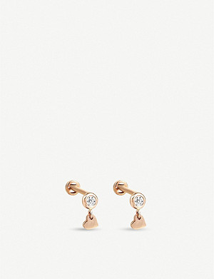 THE ALKEMISTRY The Alkemistry x Kismet by Milka 14ct rose-gold and diamond earrings