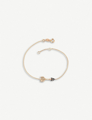 THE ALKEMISTRY Kismet By Milka Arrow 14ct rose-gold bracelet