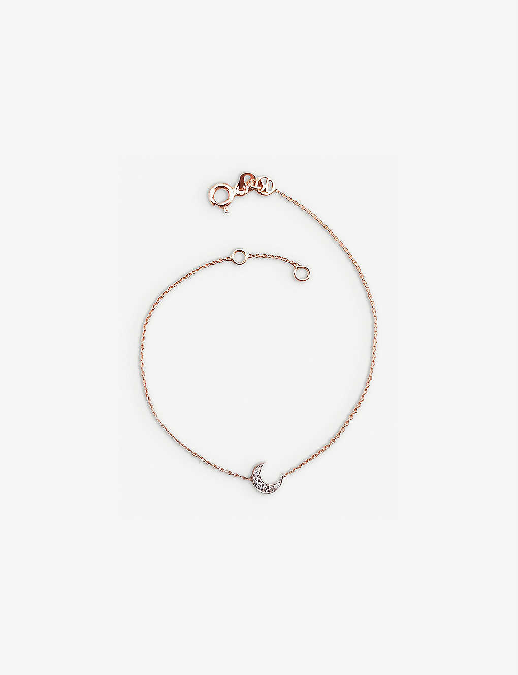 THE ALKEMISTRY: Kismet by Mika Crescent moon diamond and 14ct rose-gold bracelet