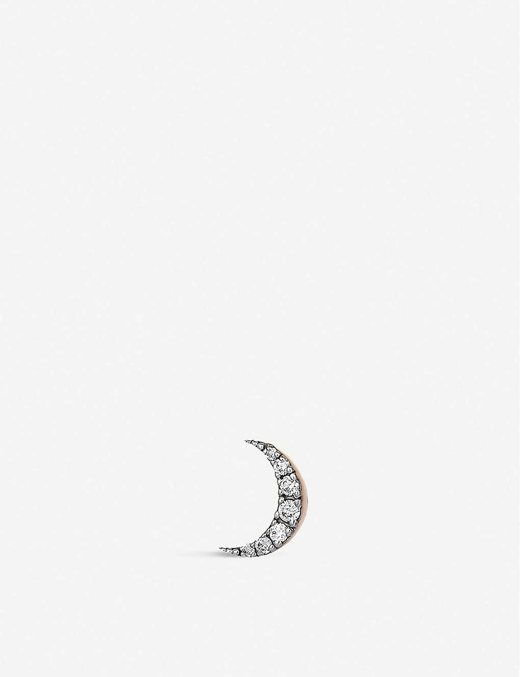 THE ALKEMISTRY: Kismet by Milka 14ct rose-gold single moon earring