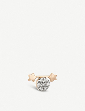 THE ALKEMISTRY Kismet By Milka Gemini 14ct rose gold stud earring