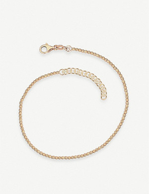 THE ALKEMISTRY The Alkemistry x Kismet by Milka disco bead rose-gold anklet