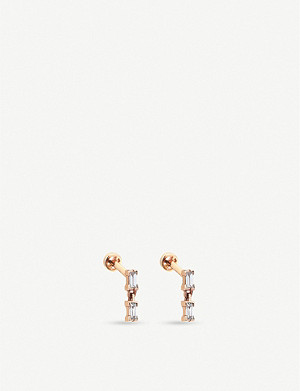 THE ALKEMISTRY The Alkemistry x Kismet by Milka 14ct rose-gold and diamond drop earrings