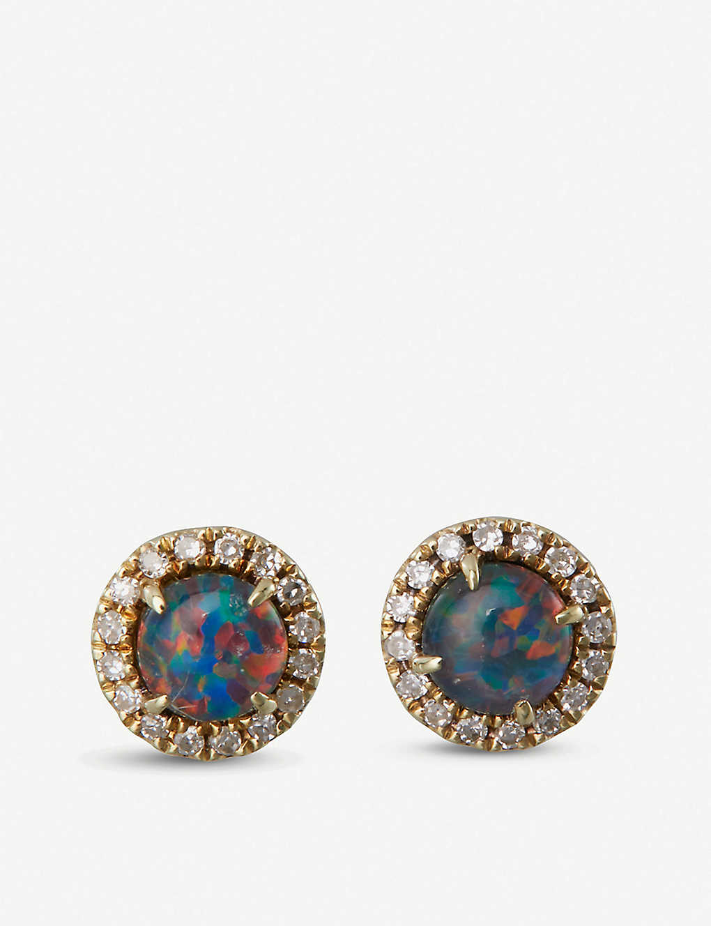 33d754bcbb01f THE ALKEMISTRY - Meira T 14ct yellow gold, opal and diamond stud ...