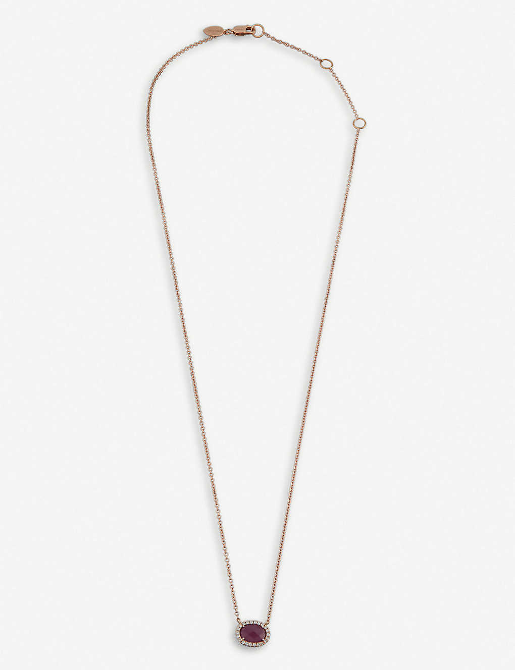 f1315aa28a456 THE ALKEMISTRY - Meira T 14ct rose gold, ruby and diamond necklace ...
