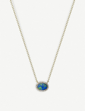 THE ALKEMISTRY Meira T 14ct yellow-gold Australian opal and diamond necklace