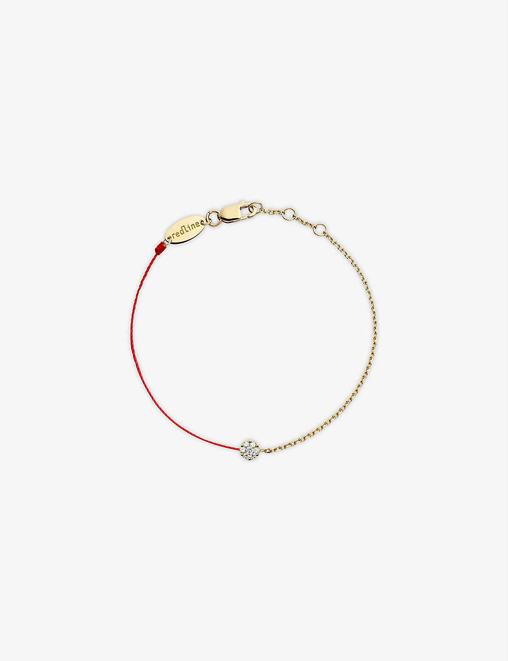 THE ALKEMISTRY: Redline 18ct yellow-gold and diamond illusion chain bracelet