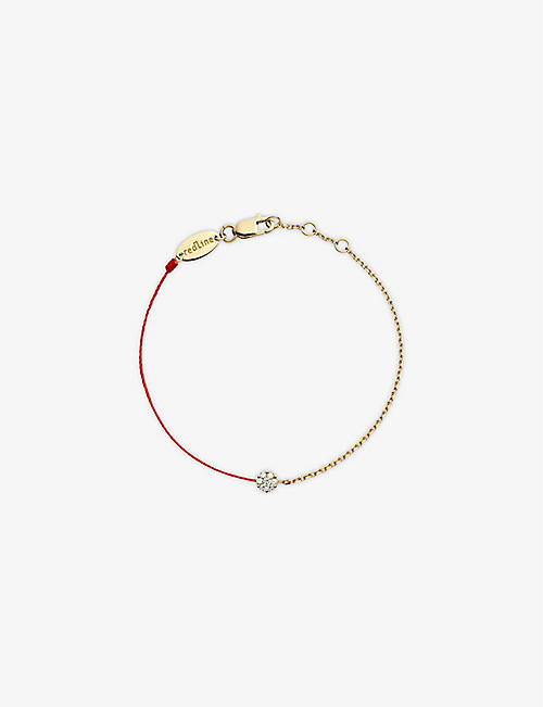 THE ALKEMISTRY Redline 18ct yellow-gold and diamond illusion chain bracelet