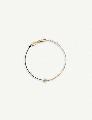 THE ALKEMISTRY Redline Pure 18ct yellow-gold, silk thread and diamond bracelet