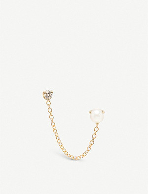 THE ALKEMISTRY Zoë Chicco 14ct yellow-gold pearl and diamond chain earring