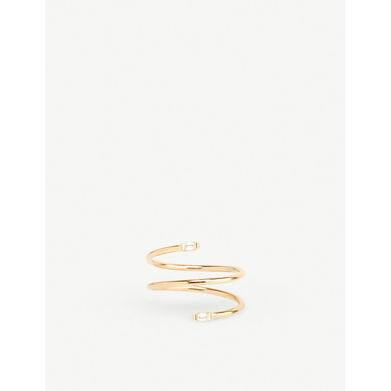 THE ALKEMISTRY   Zoë Chicco 14ct Yellow-Gold And Diamond Wrap Ring   Goxip