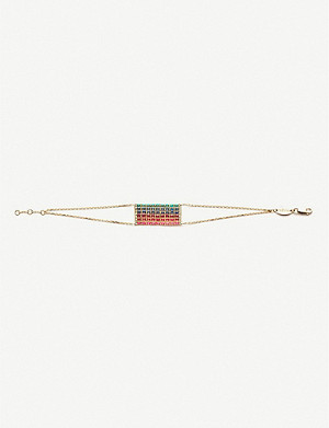 THE ALKEMISTRY Redline Aurore rectangular 18ct yellow-gold chain bracelet