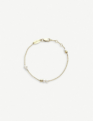 THE ALKEMISTRY Redline Nuit Perlée 18ct yellow-gold and pearls bracelet