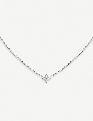 THE ALKEMISTRY: Redline 18ct white-gold and diamond star necklace