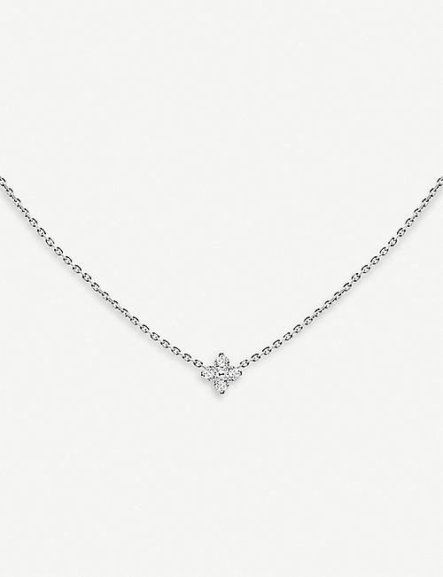 THE ALKEMISTRY Redline 18ct white-gold and diamond star necklace