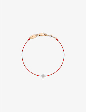THE ALKEMISTRY Redline 18ct rose-gold diamond flower bracelet