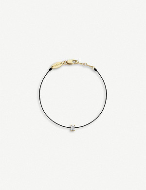 THE ALKEMISTRY Redline 14ct yellow-gold, diamond and silk bracelet