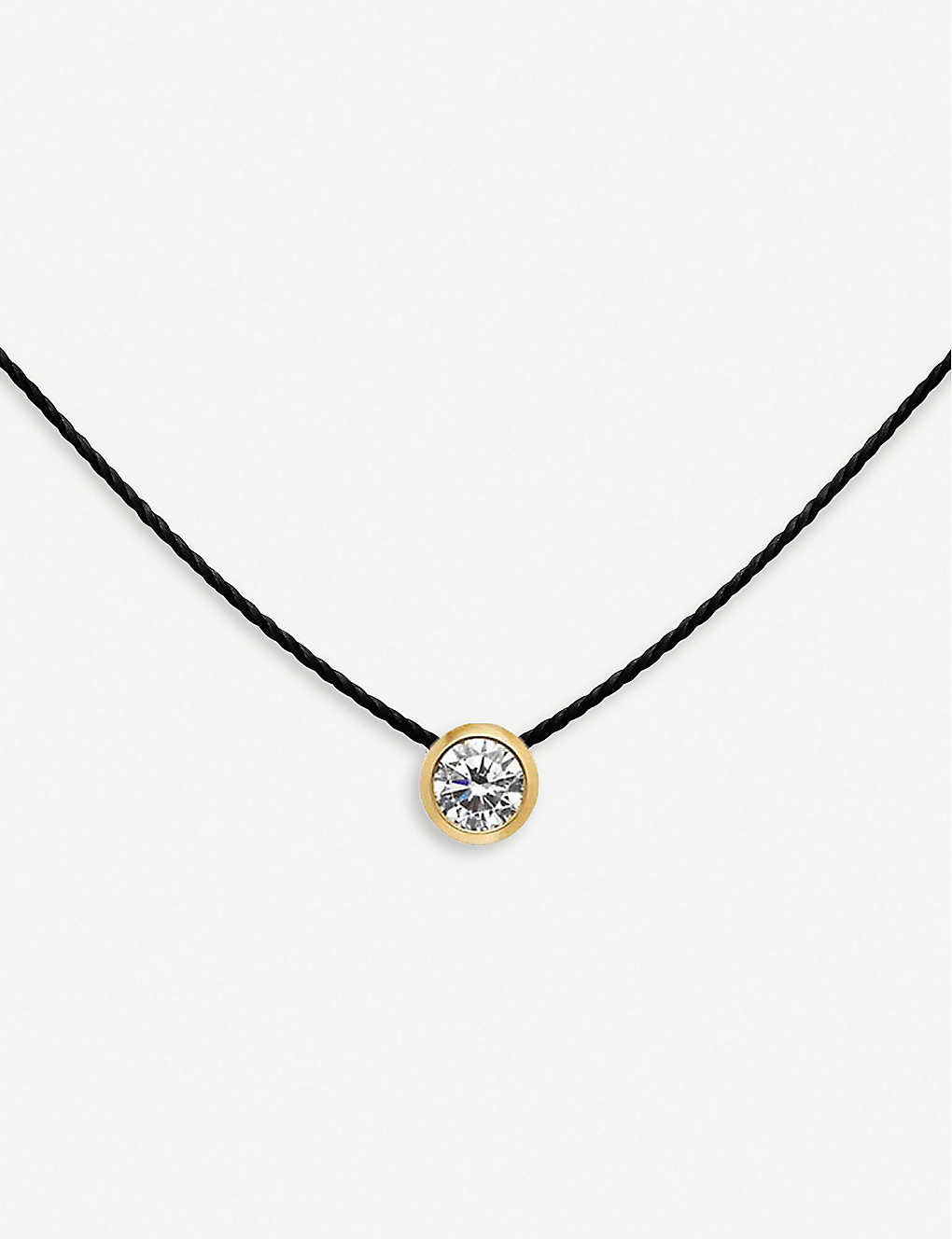 THE ALKEMISTRY: Redline 18ct yellow-gold, diamond and silk necklace