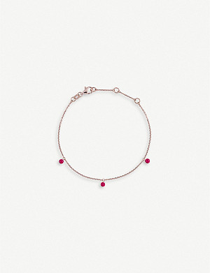 THE ALKEMISTRY Drilled 18ct rose-gold and ruby bracelet