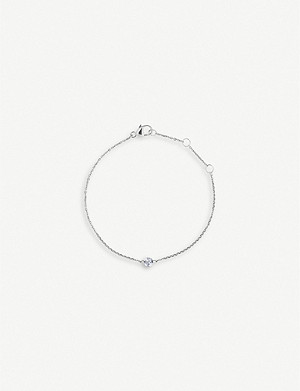 THE ALKEMISTRY Drilled 18ct white-gold and diamond bracelet