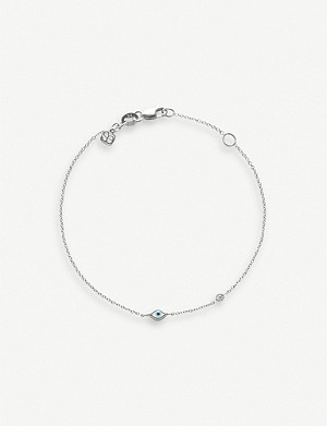 THE ALKEMISTRY Sydney 14ct white-gold, diamond and enamel bracelet