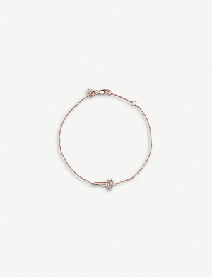 THE ALKEMISTRY Sydney Evan mini key 14ct rose-gold and diamond bracelet