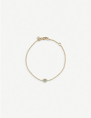 THE ALKEMISTRY: Evil Eye 14ct yellow-gold, turquoise and diamond bracelet