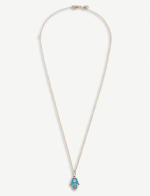 THE ALKEMISTRY Sydney Evan 14ct yellow-gold and diamond necklace